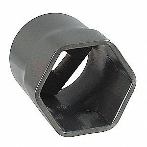 "2-1/2"" Steel Locknut Socket with 3/4"" Drive Size and Natural Finish"