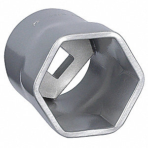 "60mm Steel Locknut Socket with 3/4"" Drive Size and Natural Finish"