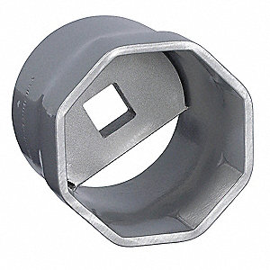 "82mm Steel Locknut Socket with 1"" Drive Size and Natural Finish"