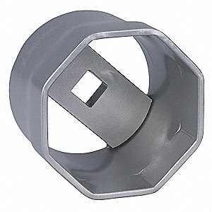 "106mm Steel Locknut Socket with 1"" Drive Size and Natural Finish"
