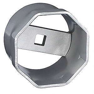 "110mm Steel Locknut Socket with 1"" Drive Size and Natural Finish"