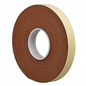 "Foam Tape, Silicone Tape Adhesive, 1"" X 10 yd., Continuous Roll, Orange"