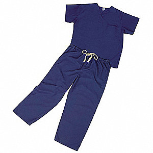 Scrub Pants,Unisex,2XL,Blue