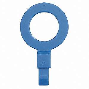 Fill Point ID Washer,3/4 NPT,Blue,Pk 6