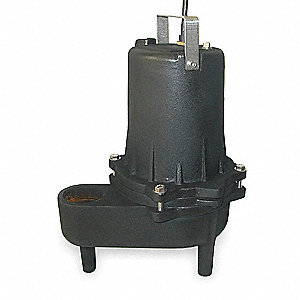 4/10 HP Manual Submersible Sewage Pump, 115 Voltage, 40 GPM of Water @ 15 Ft. of Head
