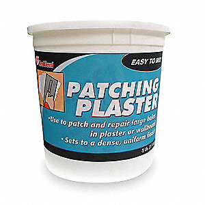 Plaster Patch, 3 lb. Size, White Color, Container Type: Pail