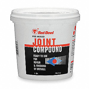 Pre-Mixed Joint Compound, 1 qt. Size, White Color, Container Type: Pail