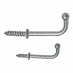 WIRE HOOK,LOAD RATED,304 SS,PK 10
