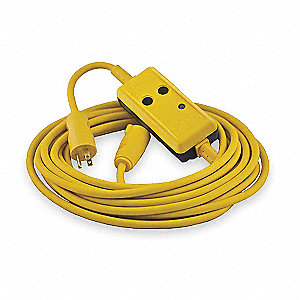 Line Cord GFCI, 120VAC Voltage Rating, NEMA Plug Configuration: 5-15P, Number of Poles: 2