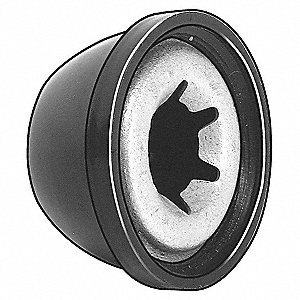 External Retaining Ring with Cap, Steel, 25 PK