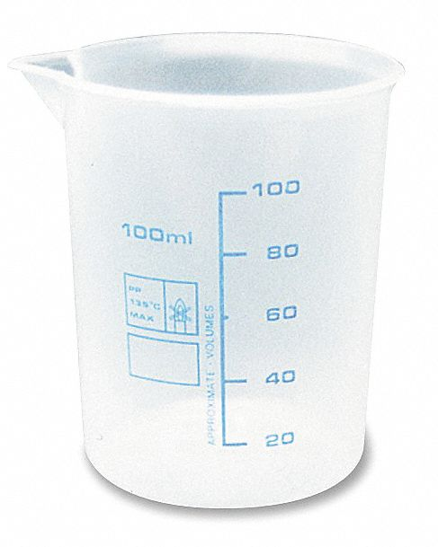 100 mL Heavy Duty Polypropylene Measuring Container