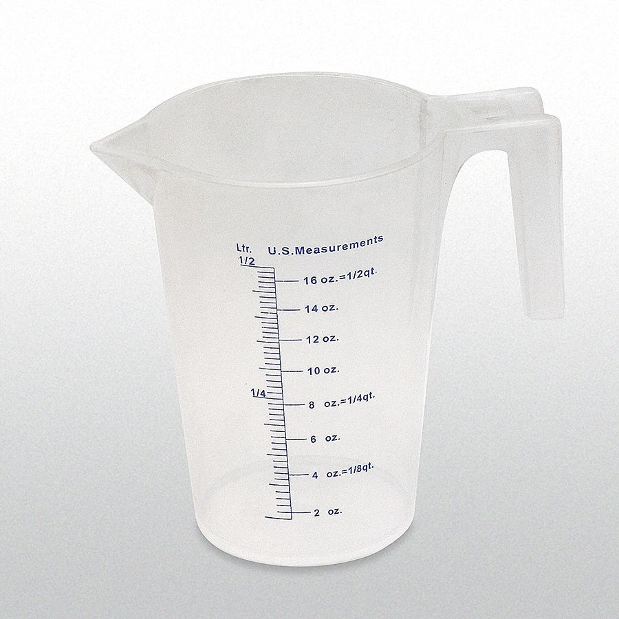 500 mL Heavy Duty Polypropylene Measuring Container