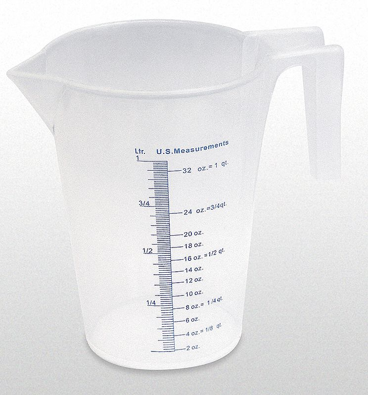 1 L Heavy Duty Polypropylene Measuring Container
