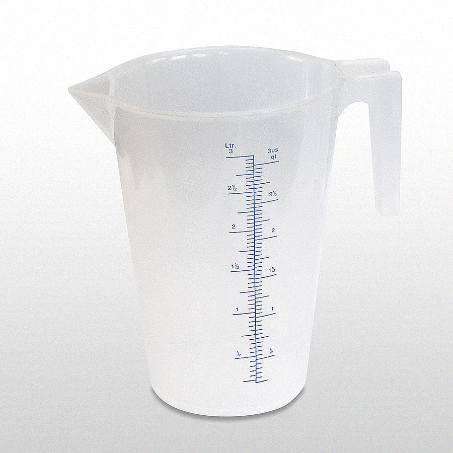 3 L Heavy Duty Polypropylene Measuring Container