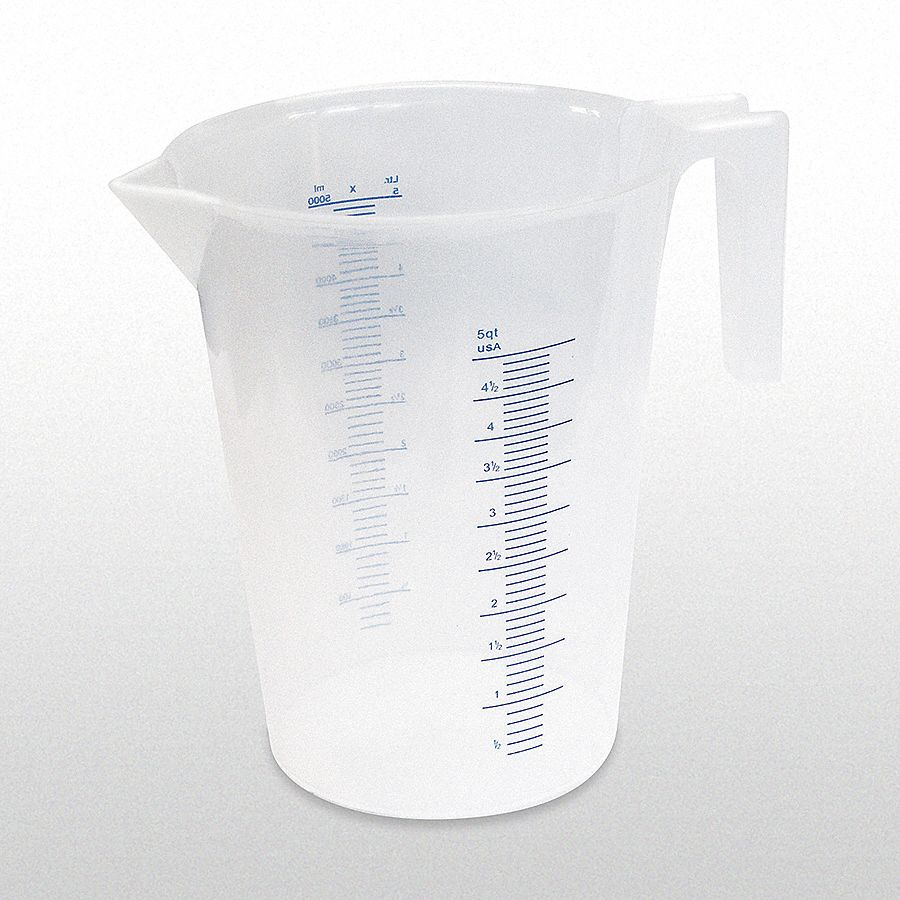 5 L Heavy Duty Polypropylene Measuring Container