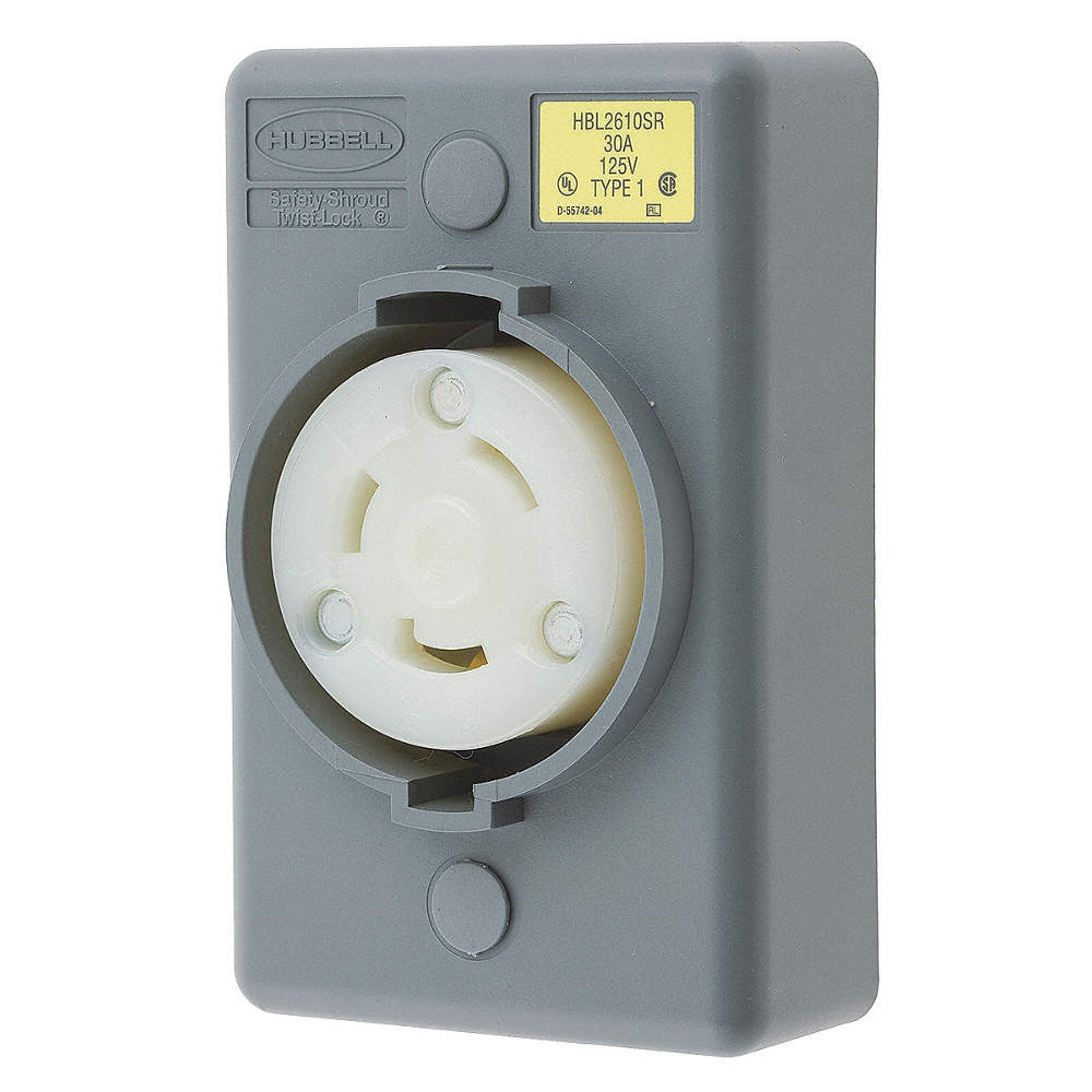 HUBBELL WIRING DEVICEKELLEMS Locking ReceptacleIndustrial30 – L5-30 Receptacles Wiring