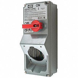Nonfusible Disconnect Switch, Heavy Duty, 15 HP @ 600VAC
