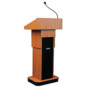 Lectern,Full Height,Sound,Medium Oak