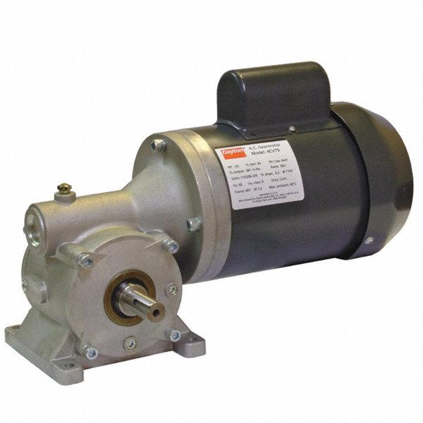 Dayton ac gearmotor 115 208 230 nameplate rpm 155 max for Dayton gear motor catalog