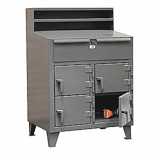 Multi-Person Locker Desk,36x54x28In,Gray