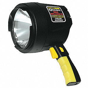 Halogen Industrial Spotlight, ABS Plastic, Maximum Lumens Output: 820, Black, 9.00""