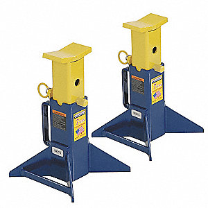 9-1/4 x 9-1/4 Pin Style Vehicle Stand&#x3b; Lifting Capacity (Tons): 7