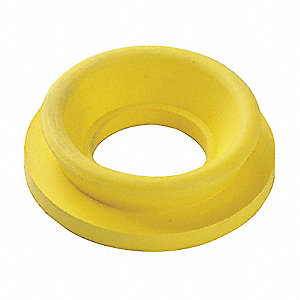 Rubber Toilet Spud Gasket, Yellow, For Use With Most Toilet Tanks