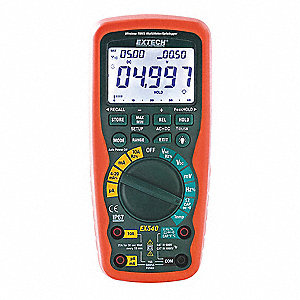 EXTECH (R) EX540 Full Size - Advanced Features - Harsh Environment Digital Multimeter, Instrument Co