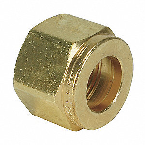 Tube Nut,Brass,Comp,1In