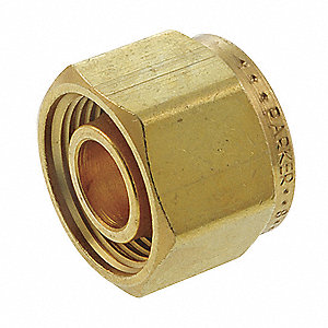 "Brass Compression Cap, 1/2"" Tube Size"