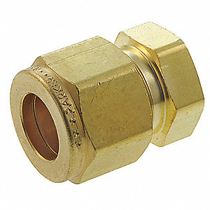 "Brass Compression Plug, 3/8"" Tube Size"