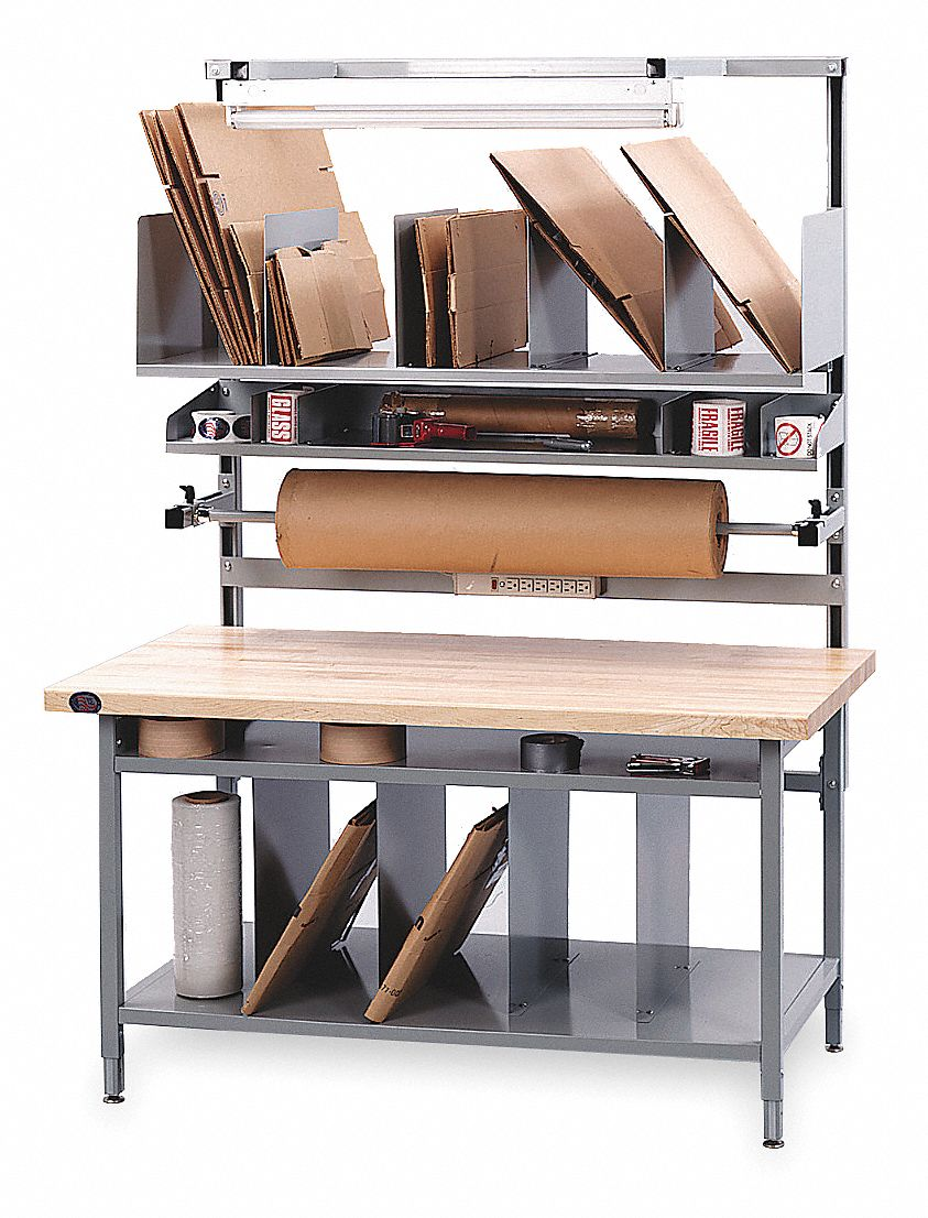 Packing Table,  Laminate Tabletop Material,  Overall LxWxH 72 in x 34 in x 90 in