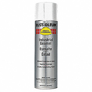High Performance Rust Preventative Spray Paint in Semi-Gloss White for Metal, Steel, 15 oz.