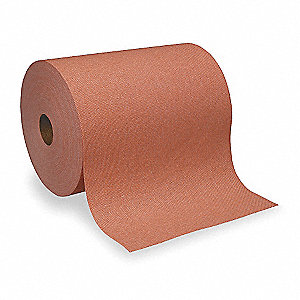 Orange DRC (Double Re-Creped) Shop Towel Roll, Number of Sheets 300, Package Quantity 6