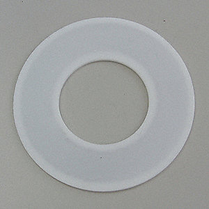 "PTFE with 304SS Insert Flange Gasket, 4-1/8"" Outside Dia., White"