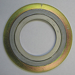 "Carbon Steel Outer Ring with 304SS Winding and Inner Ring, PTFE Filler Flange Gasket, 2-7/8"" Outside"