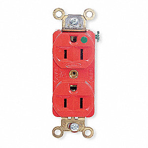 Receptacle,Duplex,15A,5-15R,125V,Red