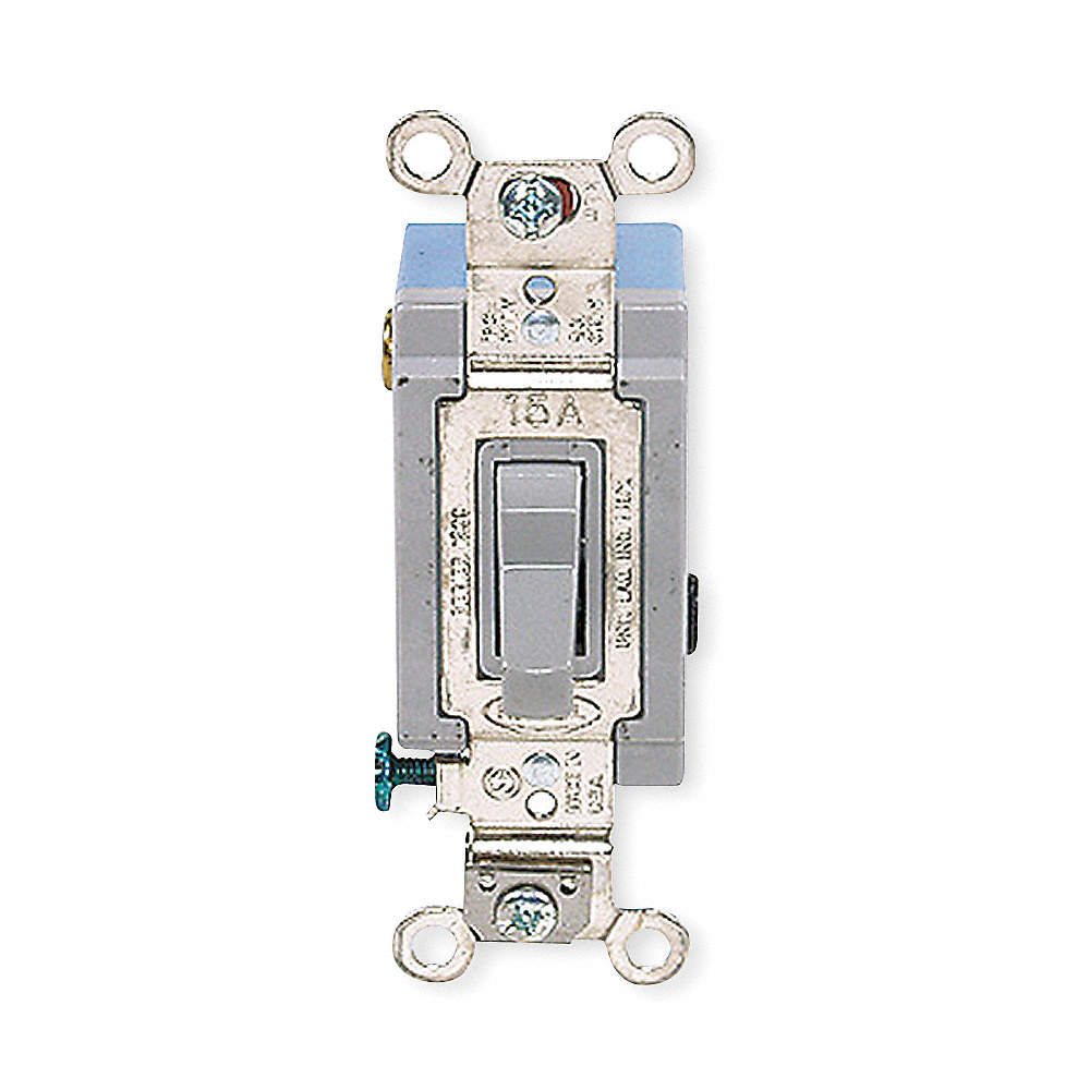HUBBELL WIRING DEVICE-KELLEMS Wall Switch, Switch Type: 1-Pole ...