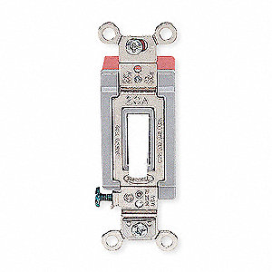 Wall Switch, Switch Type: 4-Way, Switch Function: Maintained, Style: Toggle