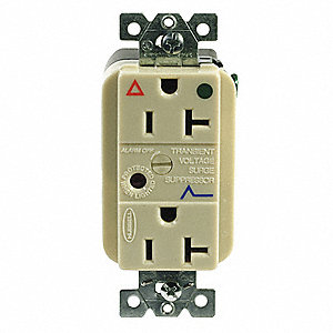 Receptacle,Deco,20A,5-20R,125V,Ivory