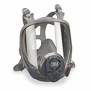 Threaded Connection Full Face Respirator, 4 Point Suspension, M