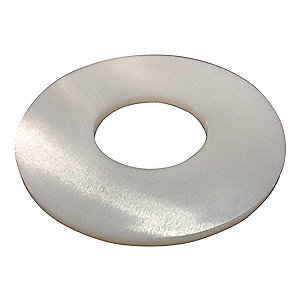 "3/4""x2"" O.D., Flat Washer, Nylon, Not Graded, Plain, PK5"