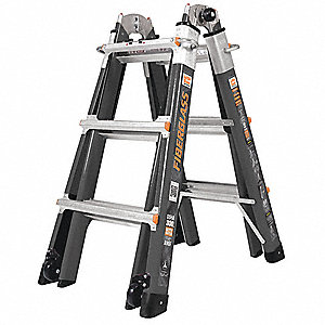 Fiberglass Multipurpose Ladder, 7 to 11 ft. Extended Ladder Height, 300 lb. Load Capacity