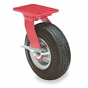 "12"" Light-Medium Duty Sawtooth Tread Swivel Pneumatic Caster, 625 lb. Load Rating"