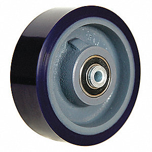 "6"" Caster Wheel, 960 lb. Load Rating, Wheel Width 2"", Polyurethane, Fits Axle Dia. 1/2"""