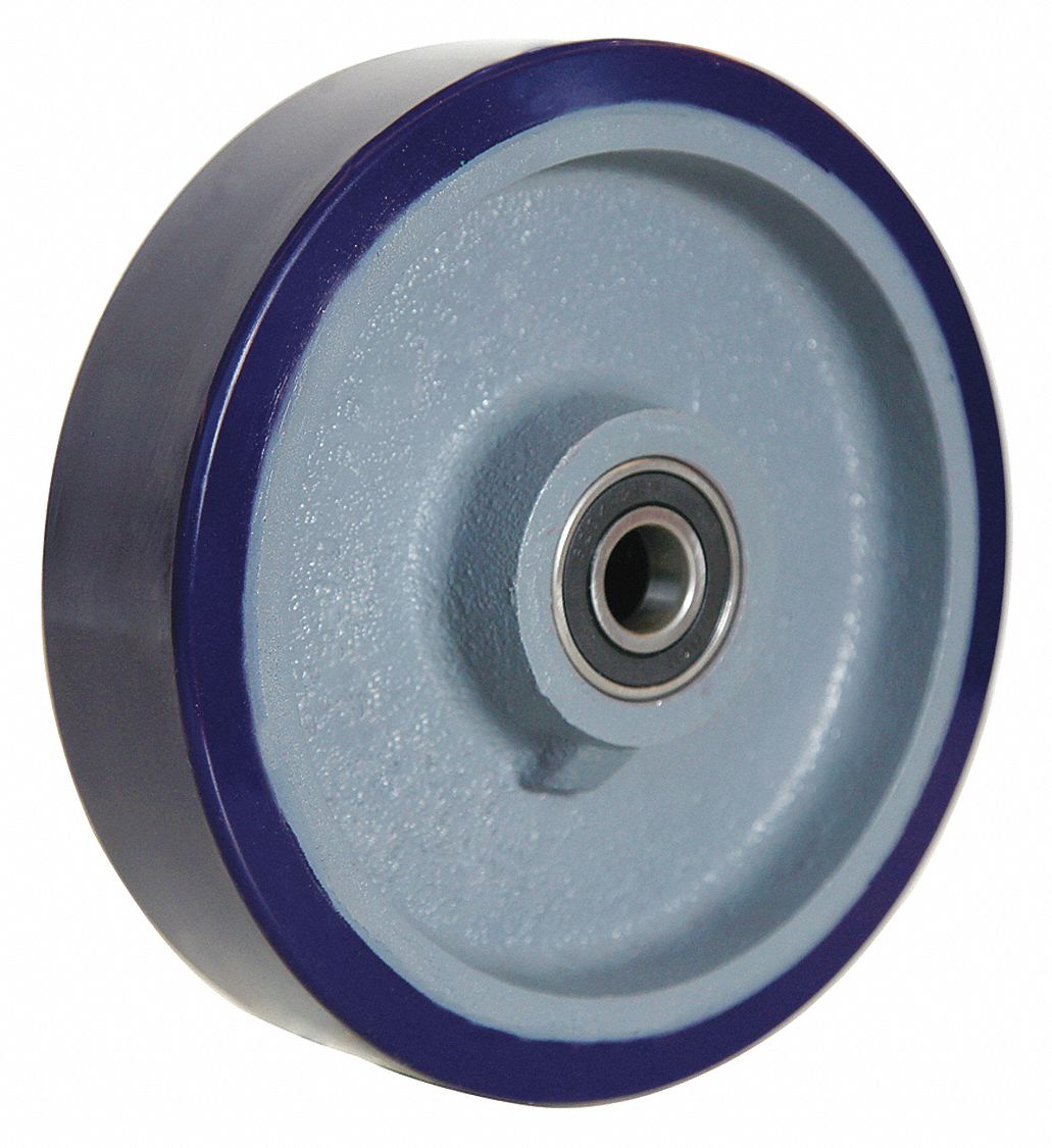 "4DU70 GRAINGER APPROVED Caster Wheel,Polyurethane,8/"",1500 lb."