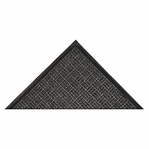Carpeted Entrance Mat,Charcoal,3ft.x5ft.