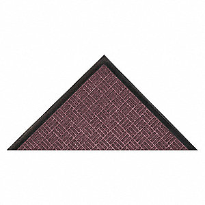 "Indoor Entrance Mat, 5 ft. L, 3 ft. W, 3/8"" Thick, Rectangle, Burgundy"