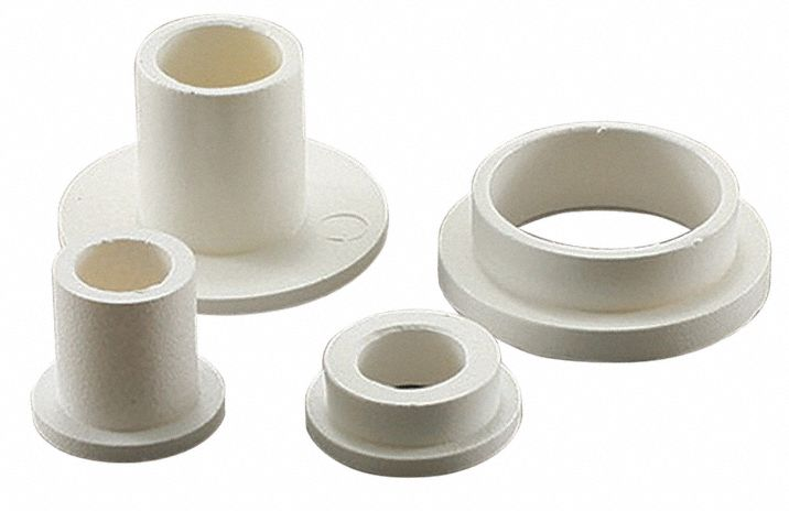 Nylon 6//6 Shoulder Washer 0.118 Hole Size 0.1180 ID 0.0400 Nominal Thickness Pack of 100