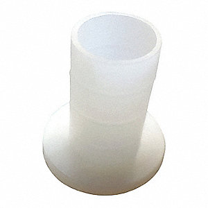 "0.375"" Nylon 6/6 Shoulder Washer with Natural Finish, Off White"